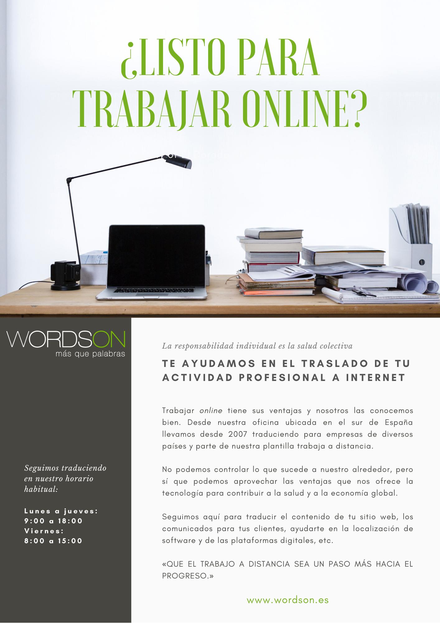 WordsOn, traducciones online