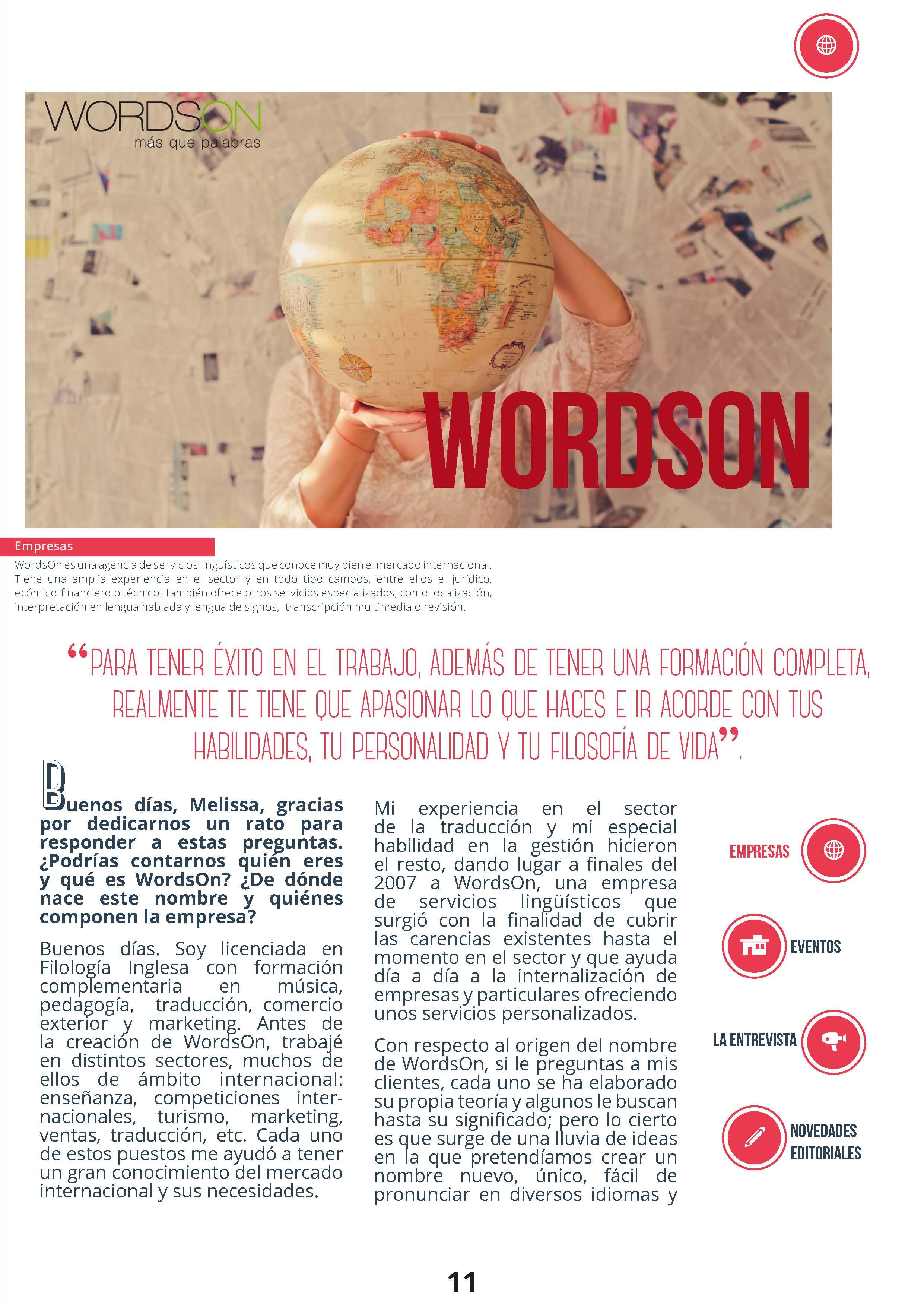 Agencia de traducción WordsOn - SELM