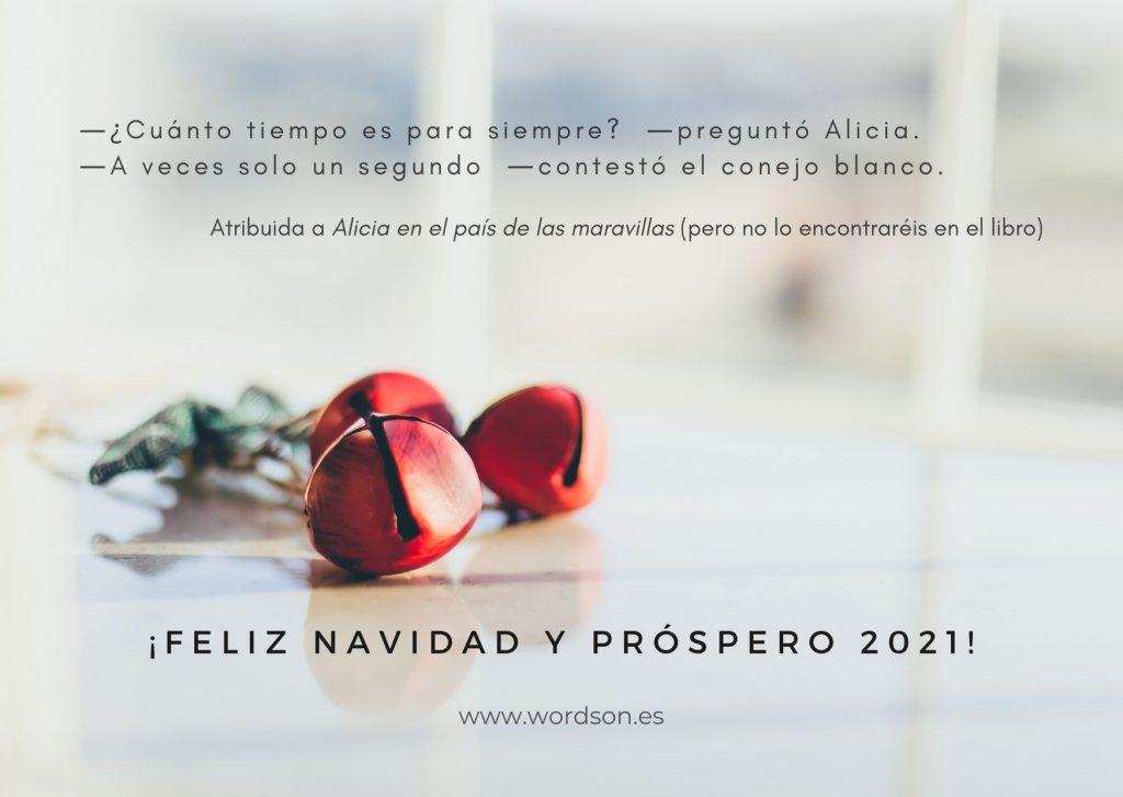 El equipo de traductores, revisores y gestores de proyecto de WordsOn Traducciones te desea feliz Navidad.